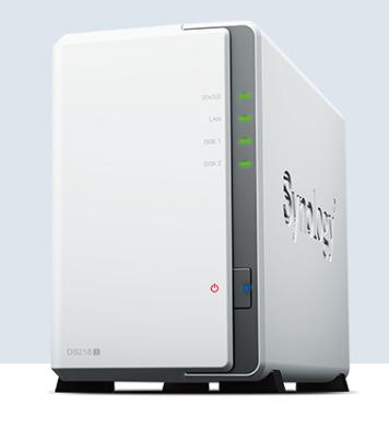 NAS群晖存储服务器DS218J 2盘位家用云存储山东代理