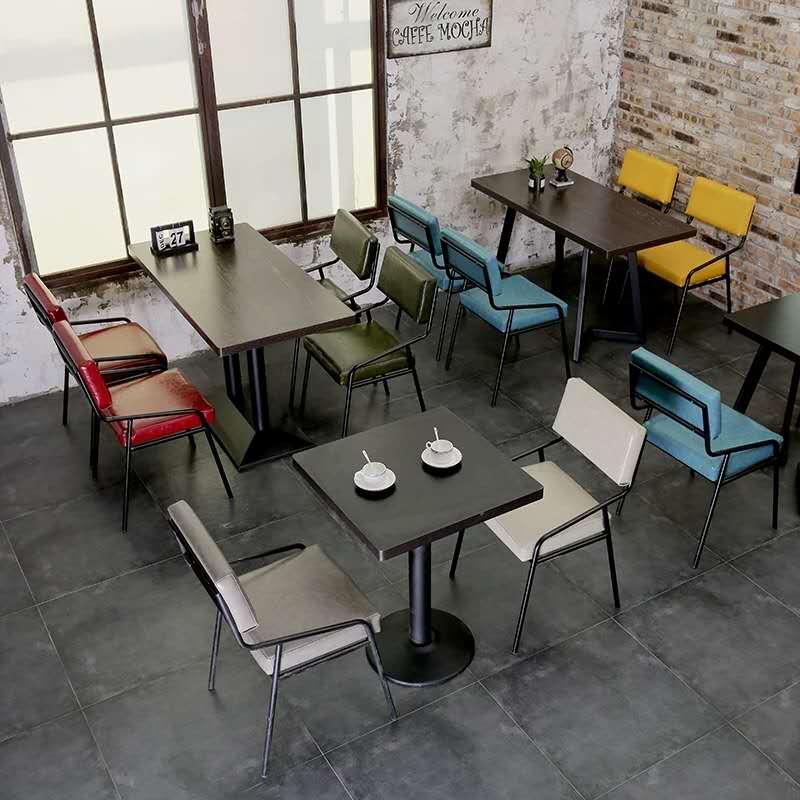 泉州咖啡厅桌椅奶茶店桌椅甜品店小吃店快餐店桌椅订做厂家