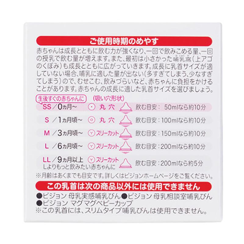 日本进口贝亲奶嘴SS、S、M、L、LL批发