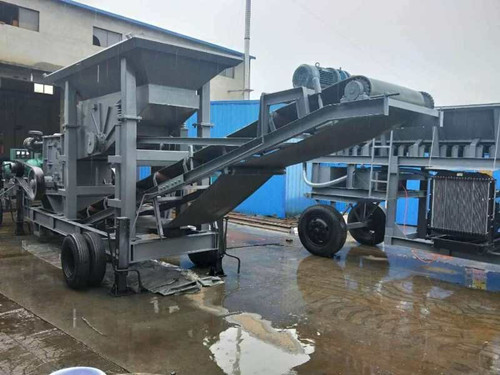 河北75吨移动式石头粉碎机价格-邢台金瑞通厂家供应