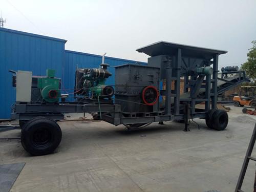 山东70吨移动式制沙机价格-金瑞通-河北厂家定制