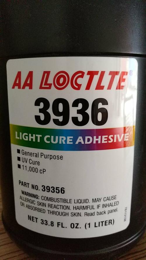 美国乐泰3936胶水医用级UV胶粘接玻璃塑料和金属部件