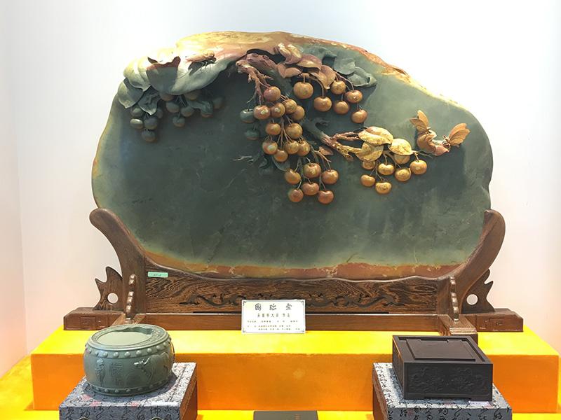 端砚石雕茶盘|为您推荐有品质的绿端砚茶盘