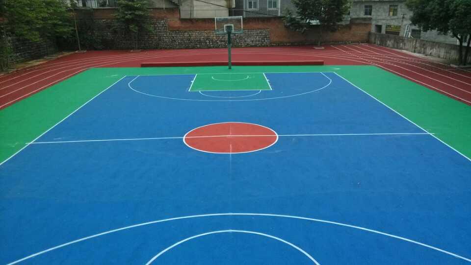 籃球場施工