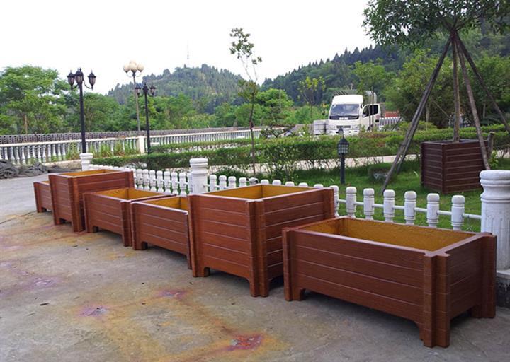 專業建造花箱-黃岡實惠的仿木花箱出售