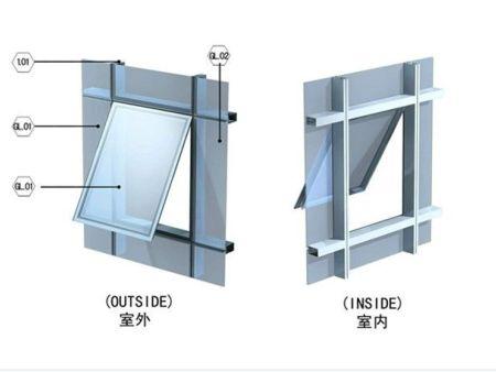 专业幕墙玻璃开窗    专业幕墙更换玻璃工程