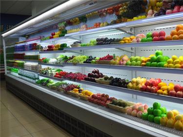 冷藏车生产厂家-圣飞冷链质量可靠的延安商超风幕柜出售