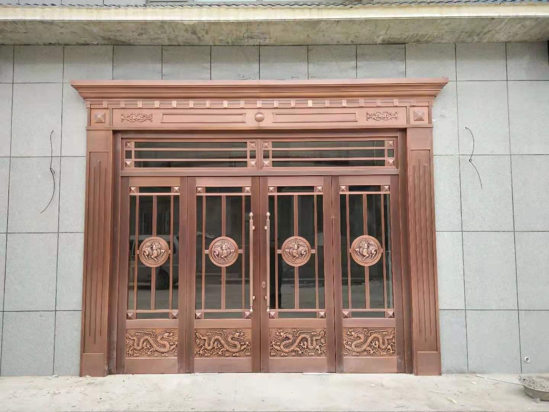 宁夏玻璃铜门