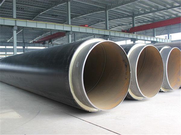 河北大型知名厂家专业生产高密度聚乙烯黑夹克直埋保温钢管