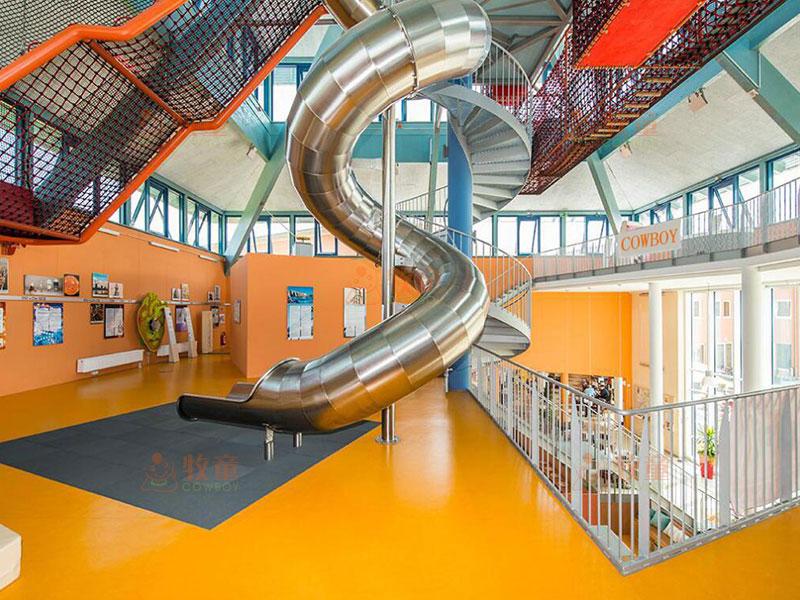 不锈钢滑梯价格-商场不锈钢滑梯定制