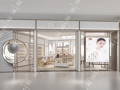 台北化妆品展示柜厂家策划-上海凌慧展示策划烤漆展示柜策划价格优惠