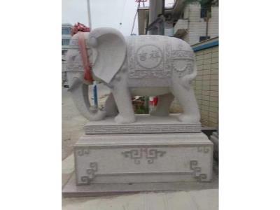 南安招财大象石雕定做_精雕细琢的招财大象石雕