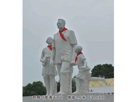 陶行知雕塑-陶行知群雕像知名廠家推薦