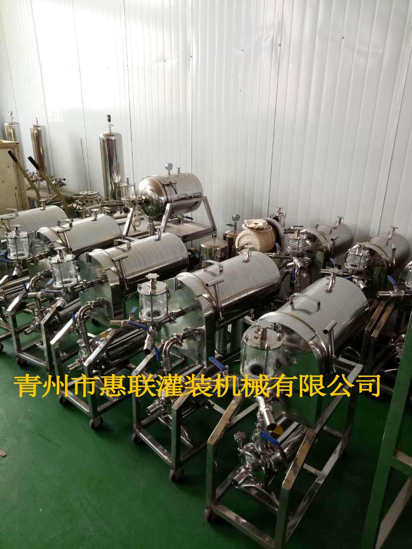 卧式硅藻土过滤机 酒厂过滤设备 硅藻土过滤机价格