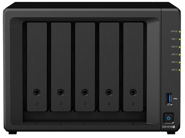 :NAS群晖存储服务器DS1019+ 5盘位企业级存储