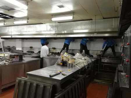重庆厨房清洗_重庆聪锦环保更靠谱,本地的油烟道清洗