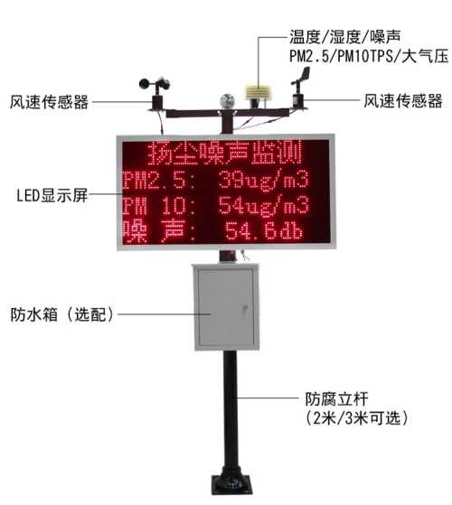 济南工地扬尘监测系统