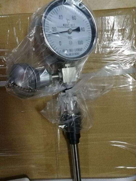 双金属温度计安全可靠,使用寿命长|WSSP带远传双金属温度计
