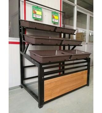呼市木纹转印货架|呼和浩特水果蔬菜货架价格范围