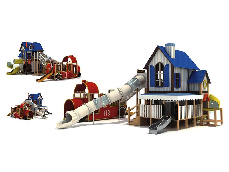 兒童組合滑梯設備廠商,供應浙江兒童組合滑梯大型游樂設備