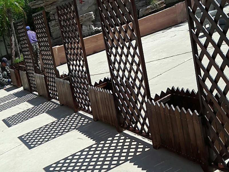 公園仿古花架-采購戶外園林小品認準鐵嶺鑫升木材