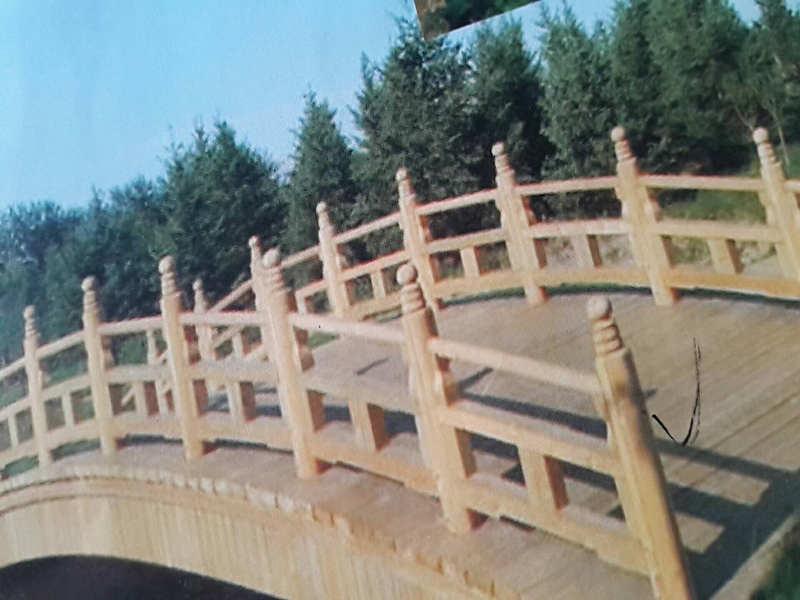 铁岭木质栏杆工厂_铁岭鑫升木材_园林仿古建筑装饰设计新颖