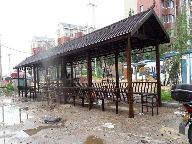 盘锦公园仿古装饰制造公司-想做园林仿古建筑装饰就到铁岭鑫升木材