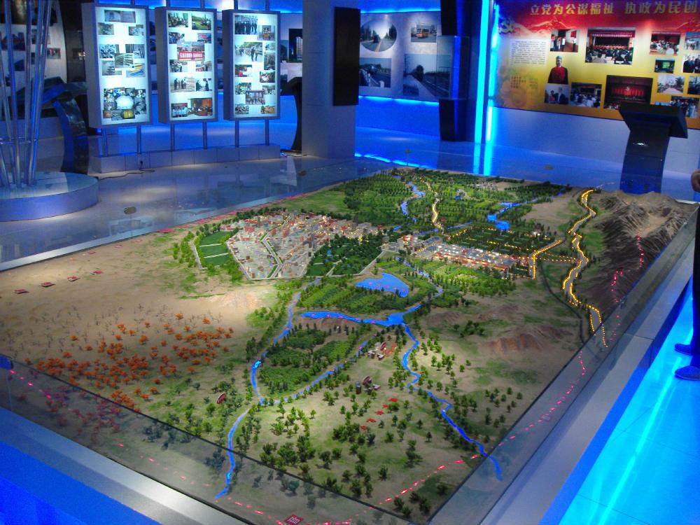 克拉玛依仿真场景模型_新疆沙盘制作公司