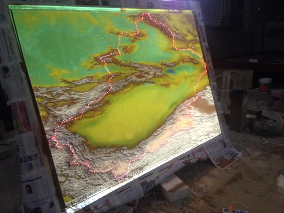 喀什地形沙盘制作-乌鲁木齐新疆地形沙盘制作