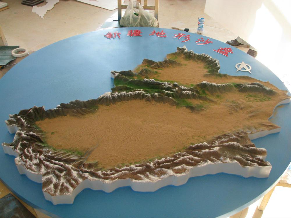 奎屯地形沙盘-哪里可以定做新疆地形沙盘