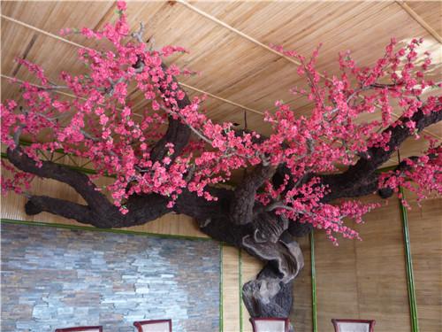仿真桃花树定做|西安知名的宝鸡仿真树提供商