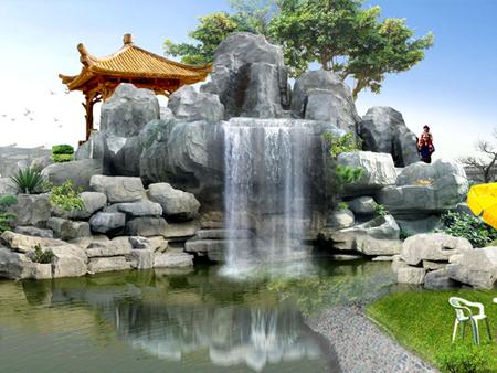 生态园水泥假山价格-新款水泥假山龙岩景观供应