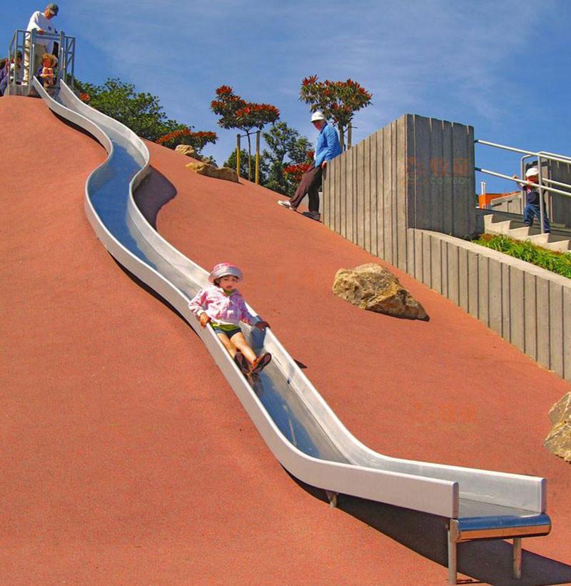 戶外非標不銹鋼滑梯-室外兒童不銹鋼滑梯廠家