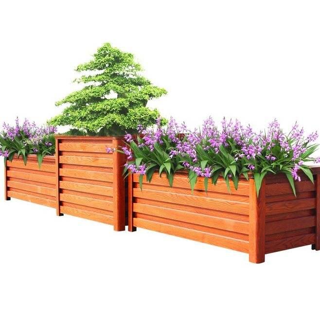 伊犁防腐木花箱格|大量出售新疆好的新疆防腐木花箱