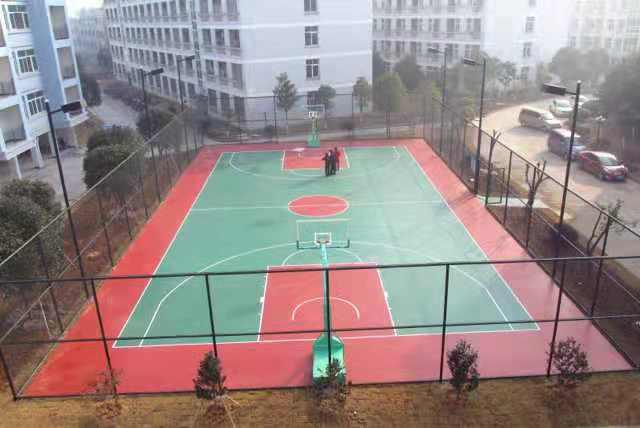 宁波硅PU篮球场,塑胶篮球场地,篮球场塑胶场地
