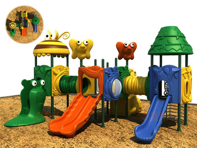 户外塑料滑梯-|社区幼儿园儿童滑滑梯