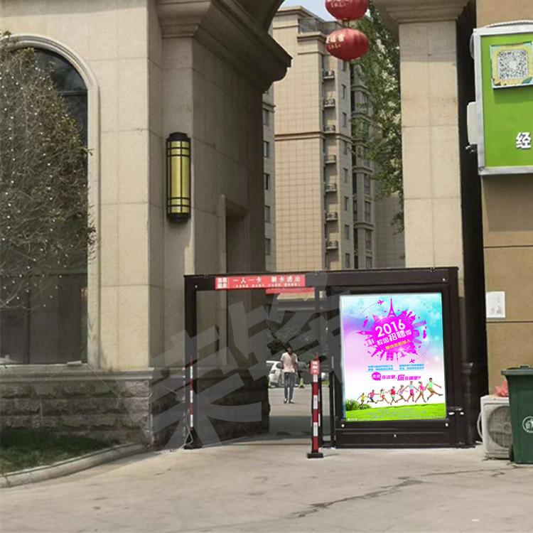 郑州小区通道自动门 广告平移门