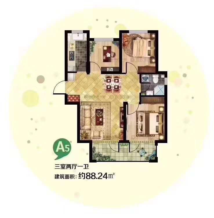 廊坊花语城一手房、12500/m2