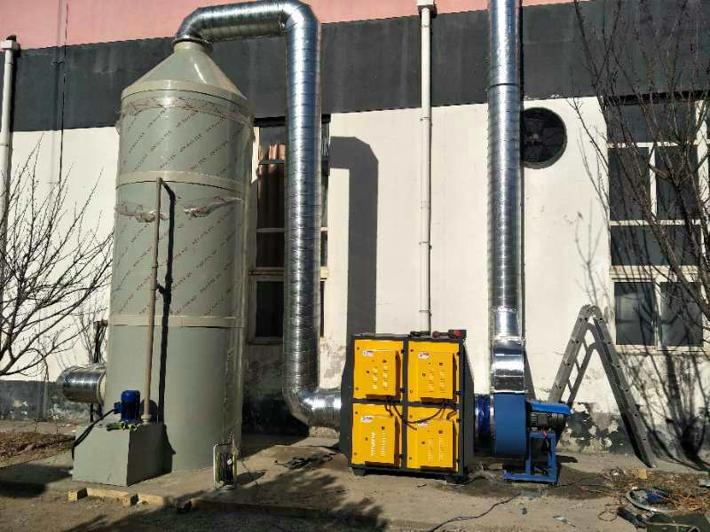 阿勒泰喷淋塔废气处理|腾达域星机械设备推荐新疆不锈钢喷淋塔