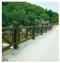 漳州水泥仿木栏杆-泊晖园林高性价仿木栏杆新品上市