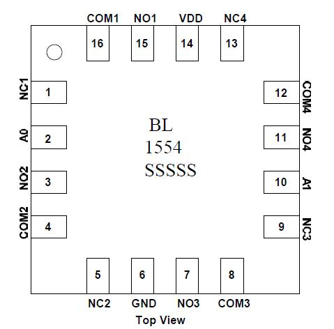 BL1554 四路SPDT模拟开关