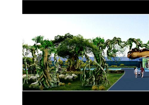 延安假樹門頭制作|選購水泥假樹認準龍巖