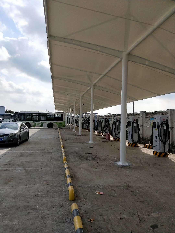 上海充电桩车棚-充电桩膜结构遮阳棚价格