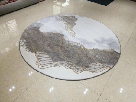 圆形地毯的高端次高质量