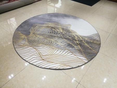 福建口碑好的圆形编织地毯-福州性价比高的金色芳华圆毯推荐