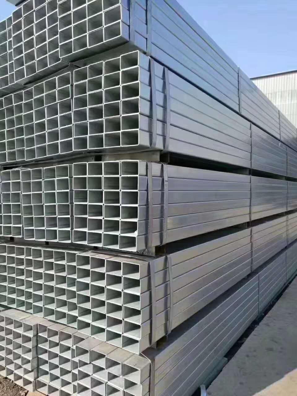 天津镀锌方矩管友发方矩管一级代理镀锌管价格镀锌方管厂家