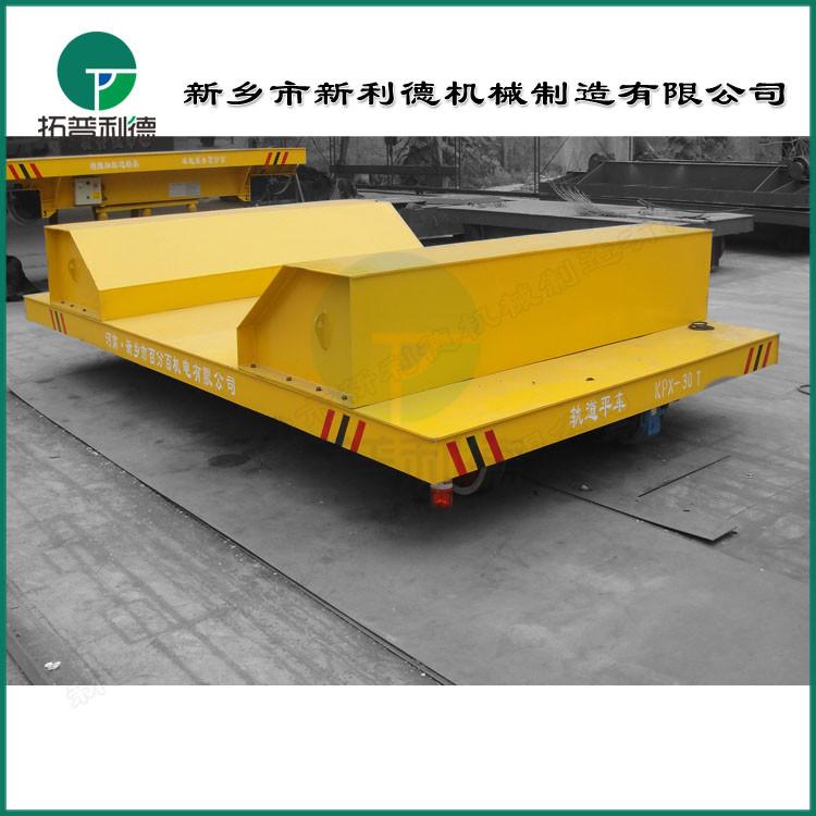 转运钢铝热卷材1.5吨电动平车 电动旋转平台性能稳定