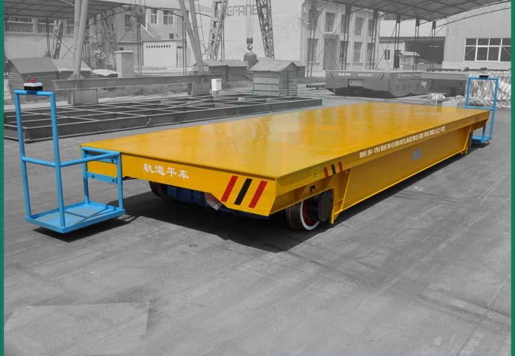 KPC25噸軌道電平車 鋼構車間平板車方案視頻