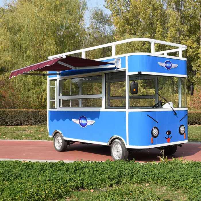 供应多功能电动餐车-山东美食餐车市场