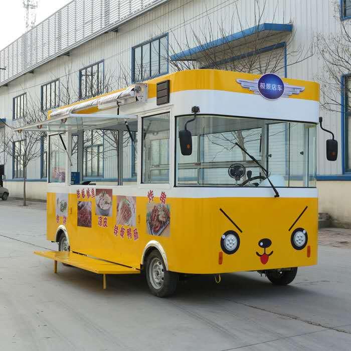 欧准新能源供应的美食餐车品质怎么样-促销多功能电动餐车